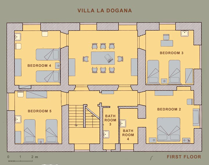 Villa in tuscany villa near florence in mugello tuscany for Italian villa floor plans