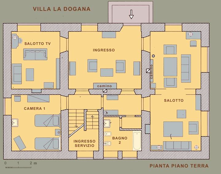 Villa la dogana antico castello di frontiera del for 4 piani di camera da letto